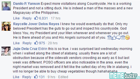 Comments on Duterte at Muntinlupa