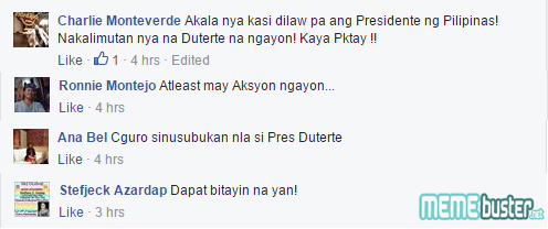 Comments on Pasay Cops Arrested Duterte