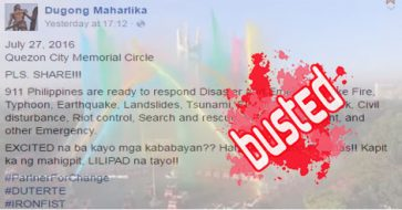 Busted: Dugong Maharlika falsely claimed Feb 2016 fire truck turnover as a July 27, 2016 event