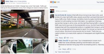 Did Raffy Tima really blame Duterte's convoy for traffic? Here's another angle to the story