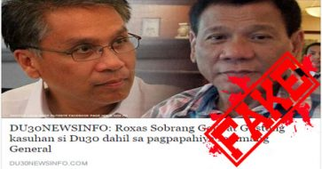Busted: Roxas filing charges against Duterte for shaming generals? Totally misleading TITLE!