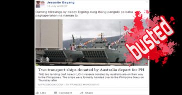 Busted: 2 transport ships donated by Australia blessings for Duterte admin? This was in 2015!