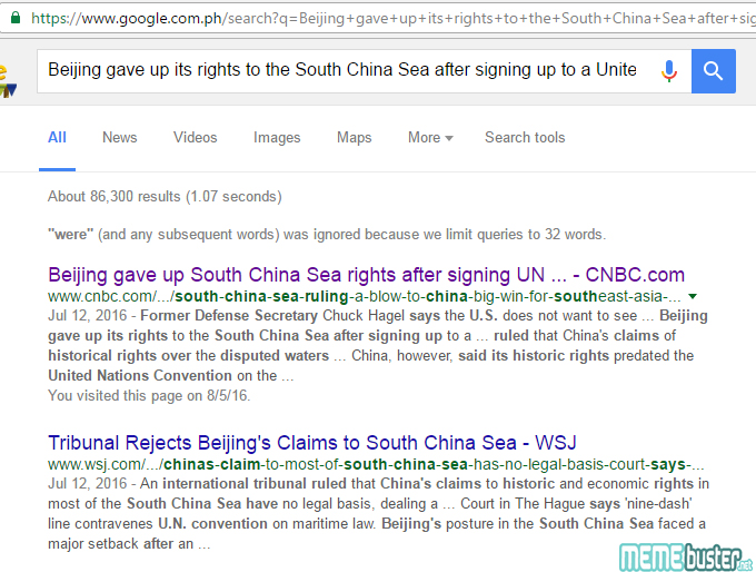 China Gave Up Scarborough
