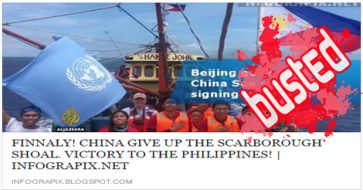 Busted: Blog claims China gave up Scarborough! How we wish it's true but this is a HOAX!