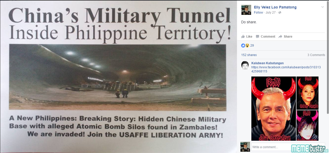 Chinese Military Tunnel In PH