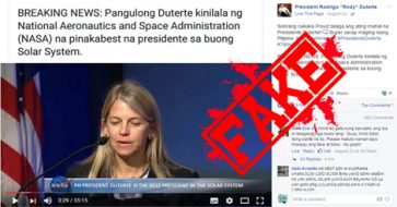 """Busted: NASA hailed Duterte as 'the best president in the solar system""""? Fake, but some supporters believed it!"""