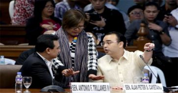 """De Lima to Cayetano: """"You are out of order!"""""""