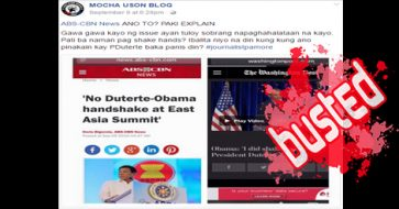 Busted: Mocha compared 'Duterte-Obama handshake' headlines on different dates. Did she even read the content?