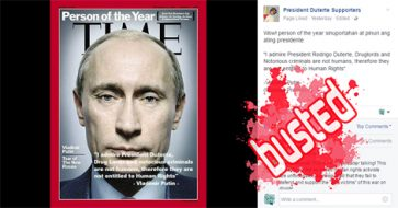 Busted: Invented quote! Putin did not say he 'admires' Duterte or his drug, crime war