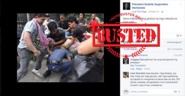 Busted: FB pages posted photo of cop assaulted by protesters, but it was taken in 2013!