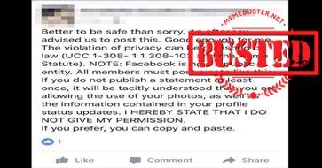"""Busted: Facebook's """"privacy notice"""" is a hoax. Here's why!"""
