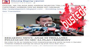 Busted: Blog, Marcos fan page used Trillanes' dead baby's name to make fun of the senator