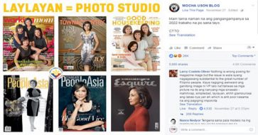 Photographer hits Mocha for bashing VP Leni's mag cover; was Mocha supposed to be on that cover?