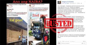Busted: FB page accused of credit-grabbing for Office of VP after posting about DSWD relief packs