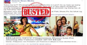 Busted: Robredo had an abortion? Fake news site is making things up again