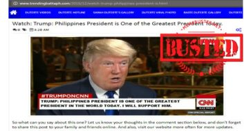 "Busted: Did Trump hail Duterte as one of the ""greatest"" presidents today? This is a misleading title!"