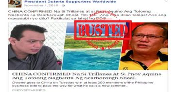 Busted: Did China confirm that Aquino, Trillanes sold Scarborough Shoal? No, blogs used a misleading title!