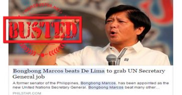 Busted: Bongbong Marcos won against De Lima to become the next UN Secretary General? It's fake!