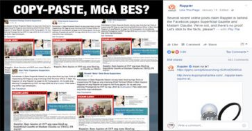 Rappler hits back at articles claiming that they are behind FB pages Superficial Gazette, Madam Claudia