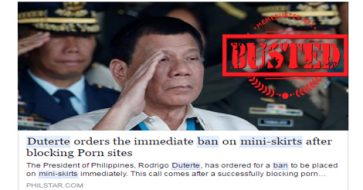 Busted: Duterte bans mini-skirts? Not true at all!