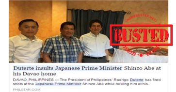 Busted: Duterte did not insult Japanese PM during visit to his Davao home! It's fake news!