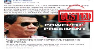 Busted: Duterte is the 'most powerful person in the world'? Blogs just used another false title!