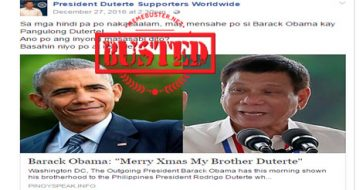 Busted: Obama greets Duterte? Fake news alert!