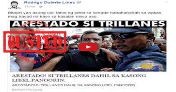 Busted: Trillanes arrested due to libel? This is recycled old news