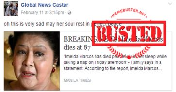 Busted: Imelda Marcos died? It's a HOAX!