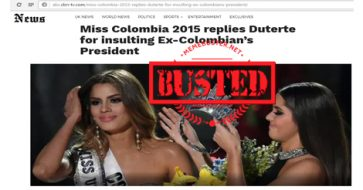 Busted: Miss Colombia Ariadna Gutierrez replied to Duterte for criticizing ex-Colombia pres? It's a hoax!