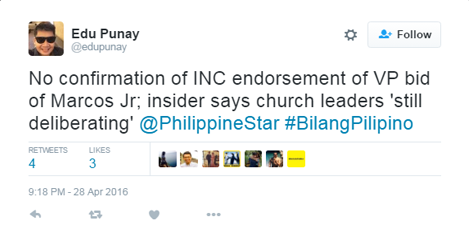 INC Not Confirmed Bongbongs