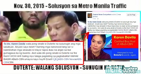 Was Karen Davila Putting Words Into Duterte's Mouth?