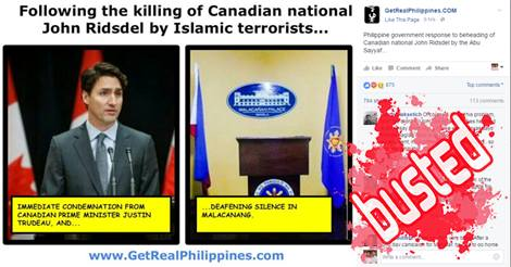 Mar Roxas outraged beheading Canadian hostage Abu Sayyaf