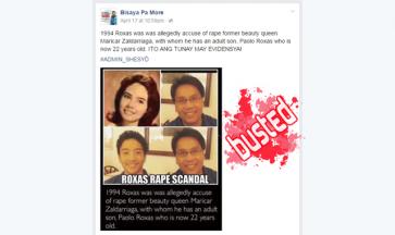 Busted: Roxas Rape Scandal