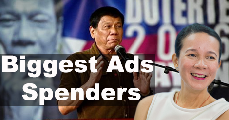 Duterte Poe Biggest Ads