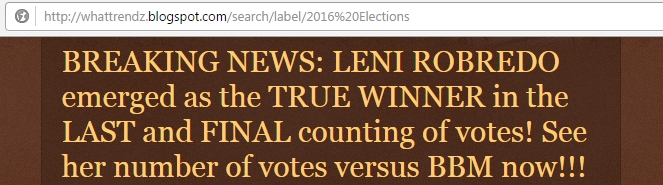 Leni Robredo emerged as the True Winner
