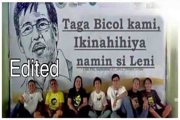 Bicol Ashamed of VP Leni