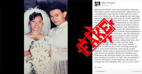 Leni Married Cebuano Activist