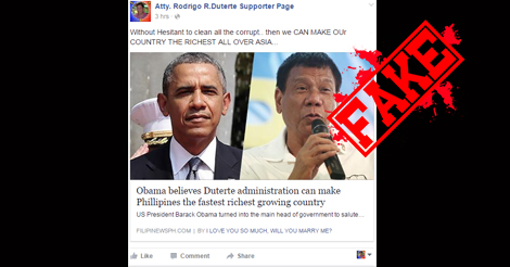 Obama Duterte Richest Growing Country