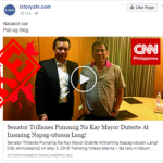 Trillanes Now Sided Duterte