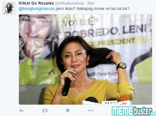 Comments on BBM tweets with VP Leni