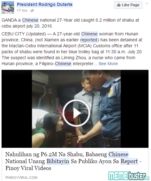 Chinese woman caught in Mactan Airport