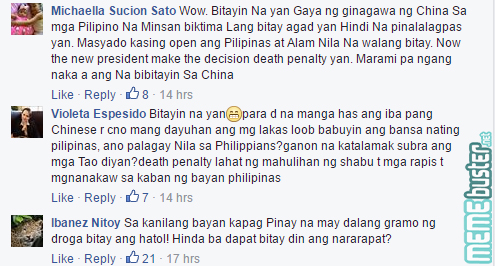 Comments on Chinese woman with Shabu caught in Mactan Airport