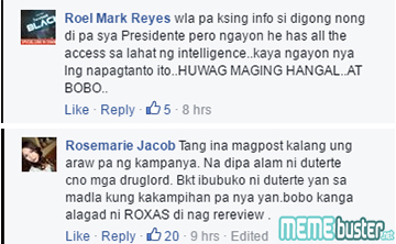 Comments on Duterte with Parojinog
