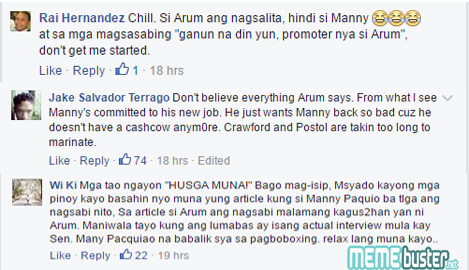 Comments on PacMan's Plan of Filing Senate Leave