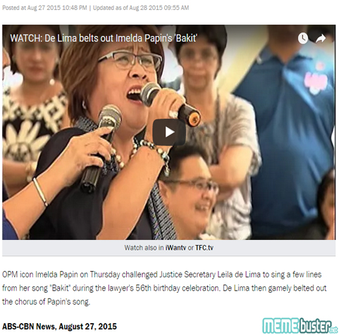 De Lima Sang Birthday Party