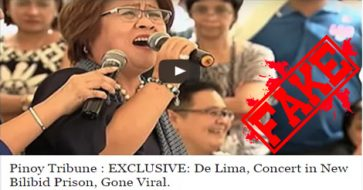 Busted: De Lima sang at her own birthday party, not in Bilibid