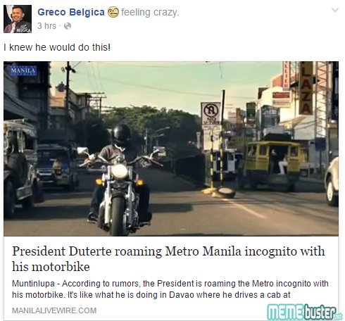 Duterte Roaming Around Metro Manila