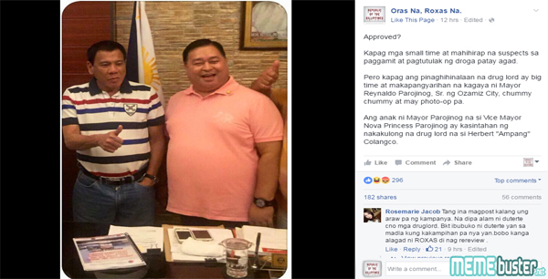 Duterte with Parojinog