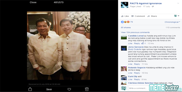 Duterte with Peter Lim